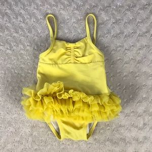PLAY CONDITION Janie & Jack Swimsuit Tutu Yellow